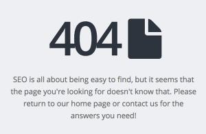 Custom 404 Error